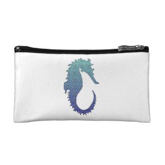 Blue Wave Seahorse Makeup Bag