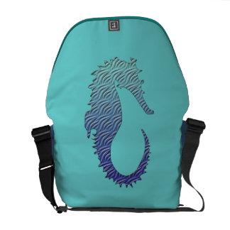 Blue Wave Seahorse Messenger Bag
