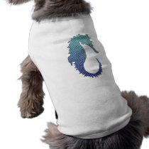 Blue Wave Seahorse Tee