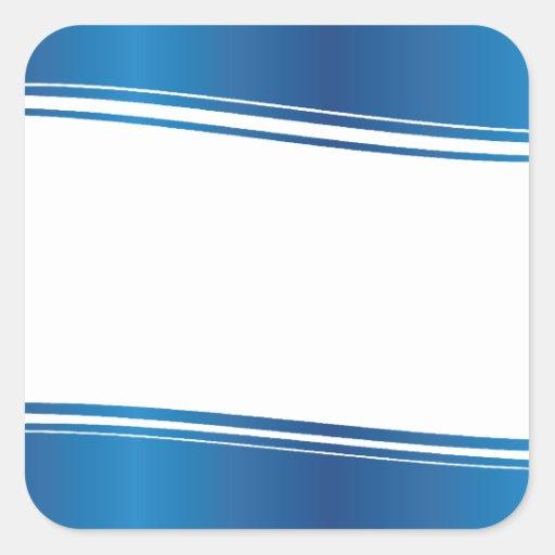 Blue Wave Square Sticker