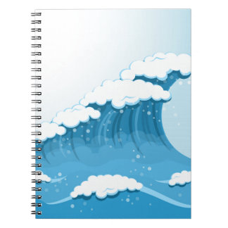 Blue Wave Surf and Ocean Notebook