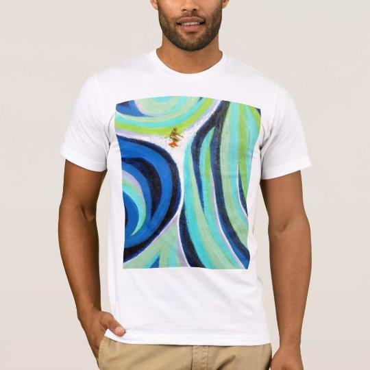 Blue Wave Surf Surfing Surfer Art Painting T-Shirt