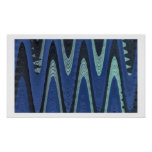 Blue Waves Abstract Posters