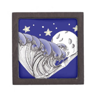 Blue Waves and Full Moon Gift Box