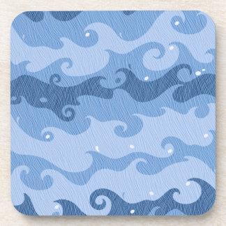 Blue Waves Beverage Coaster