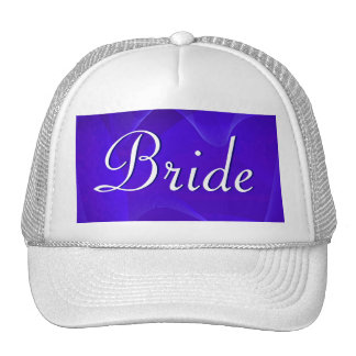 Blue Waves Bride Trucker Hat