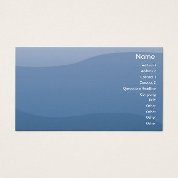 Professional Business Blue Waves - Business Business Card