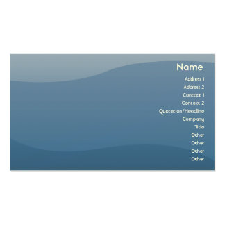 Blue Waves - Business Business Card Templates