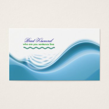 Professional Business blue waves business card