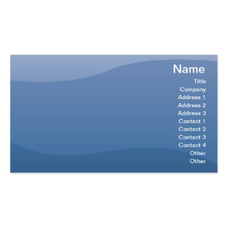 Blue Waves - Business Double-Sided Standard Business Cards (Pack Of 100)