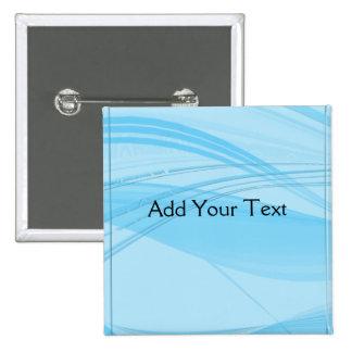 Blue Waves Pinback Button