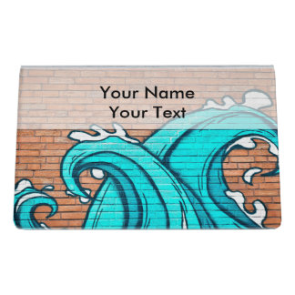 Blue Waves Cool Mural Wall Graffiti Desk Business Card Holder