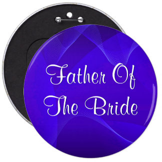 Blue Waves Father Of The Bride Button