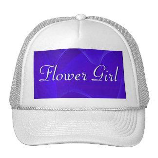 Blue Waves Flower Girl Trucker Hat