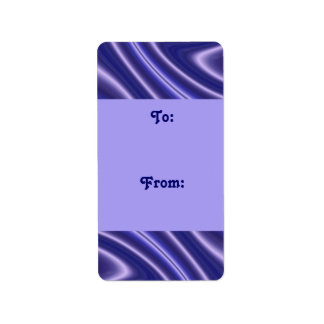 blue  waves gift tags label
