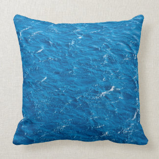 Blue Waves Grade A 20X20 Cotton Throw Pillow