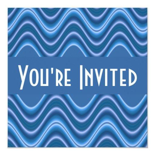 blue waves invitation