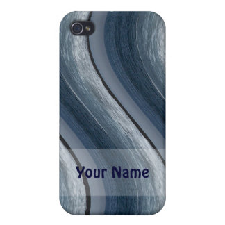 Blue Waves Iphone Case iPhone 4 Cases