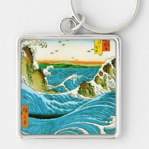 Blue Waves Keychain