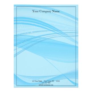 Blue Waves Custom Letterhead