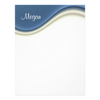 Blue Waves Personal Letterhead Stationery