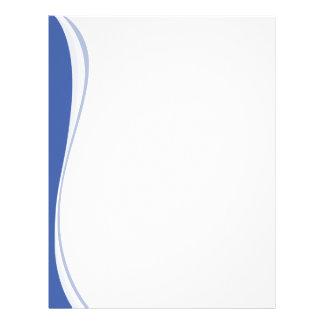 Blue Waves Side Letterhead