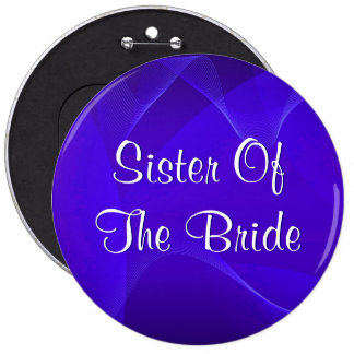 Blue Waves Sister Of The Bride Pin