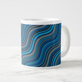 Blue Waves 20 Oz Large Ceramic Coffee Mug