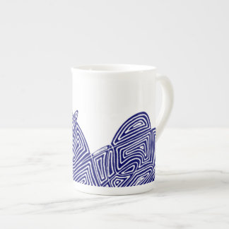 Blue Waves Tea Cup