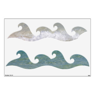 Blue Waves Wall Sticker