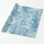 Blue Waves Wrapping Paper