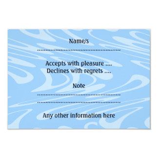 Blue Wavy Pattern. Card
