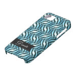 Blue Weave Abstract pattern iPhone 5 Case