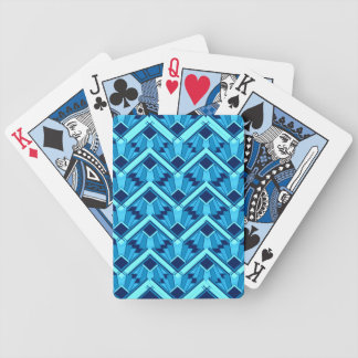 blue weave deco bicycle playing cards