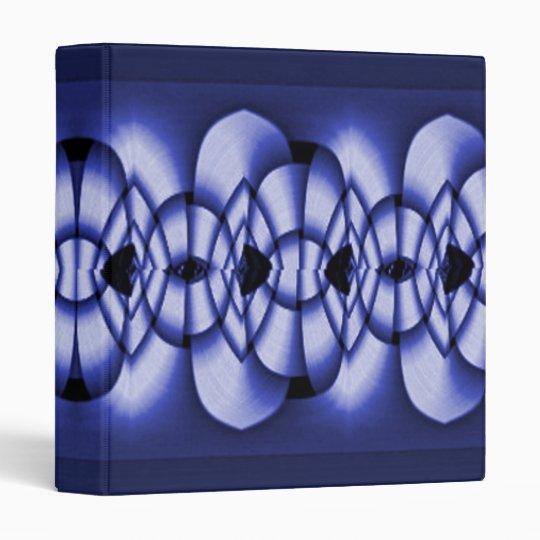 Blue Weave Geometric Design Binder