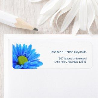 Blue Wedding Address Label