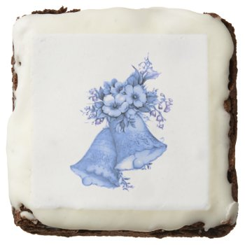 Blue Wedding Bells Chocolate Brownie