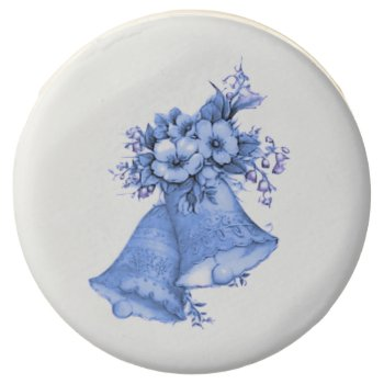 Blue Wedding Bells Chocolate Covered Oreo