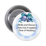 Blue Wedding Bells - Customized Button