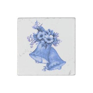 Blue Wedding Bells Stone Magnet