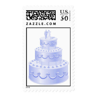 Blue Wedding Cake postage stamps
