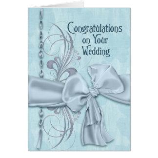 Blue Wedding Congratulations Card