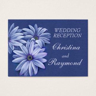Blue wedding daisy art info enclosure card
