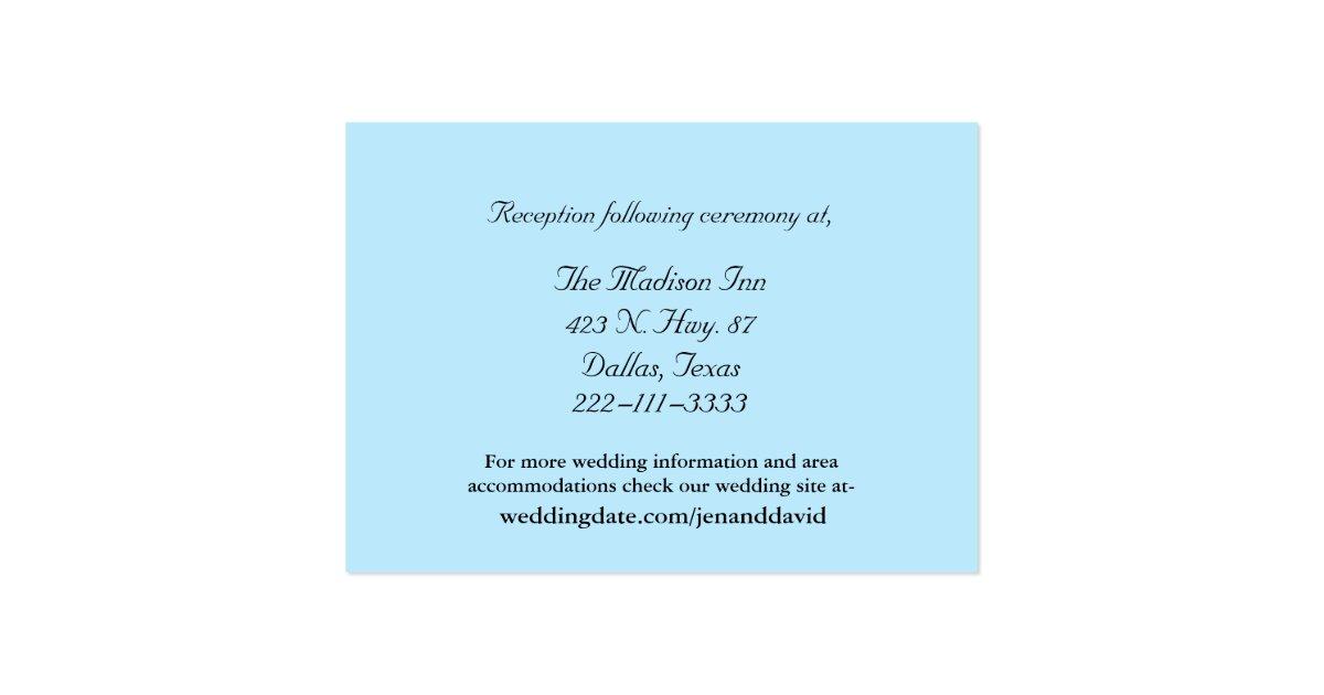 Blue Wedding Enclosure Cards