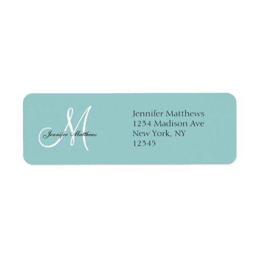 Blue wedding invitation return address labels zazzle for Wedding invitations return address on front or back
