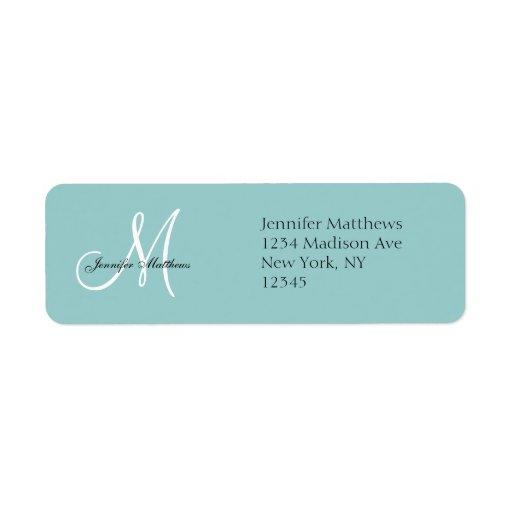Blue Wedding Invitation Return Address Labels
