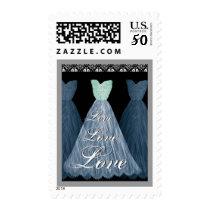 BLUE  Wedding LOVE Bridesmaid Dresses Postage