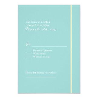 Blue Wedding RSVP Card