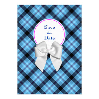 Blue Wedding Save the Date Announcement