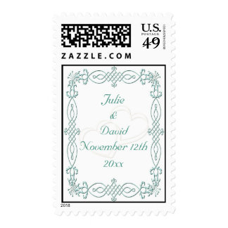 Blue Wedding Save The Date Stamps